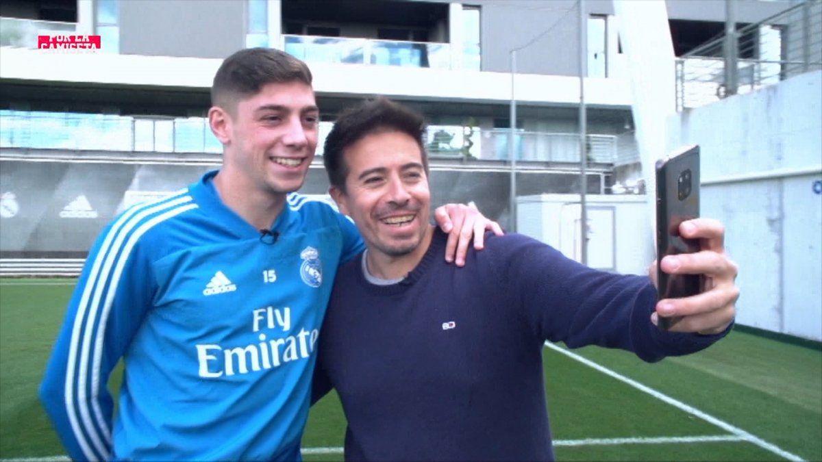 Desde Madrid con Diego Godín y Federico Valverde